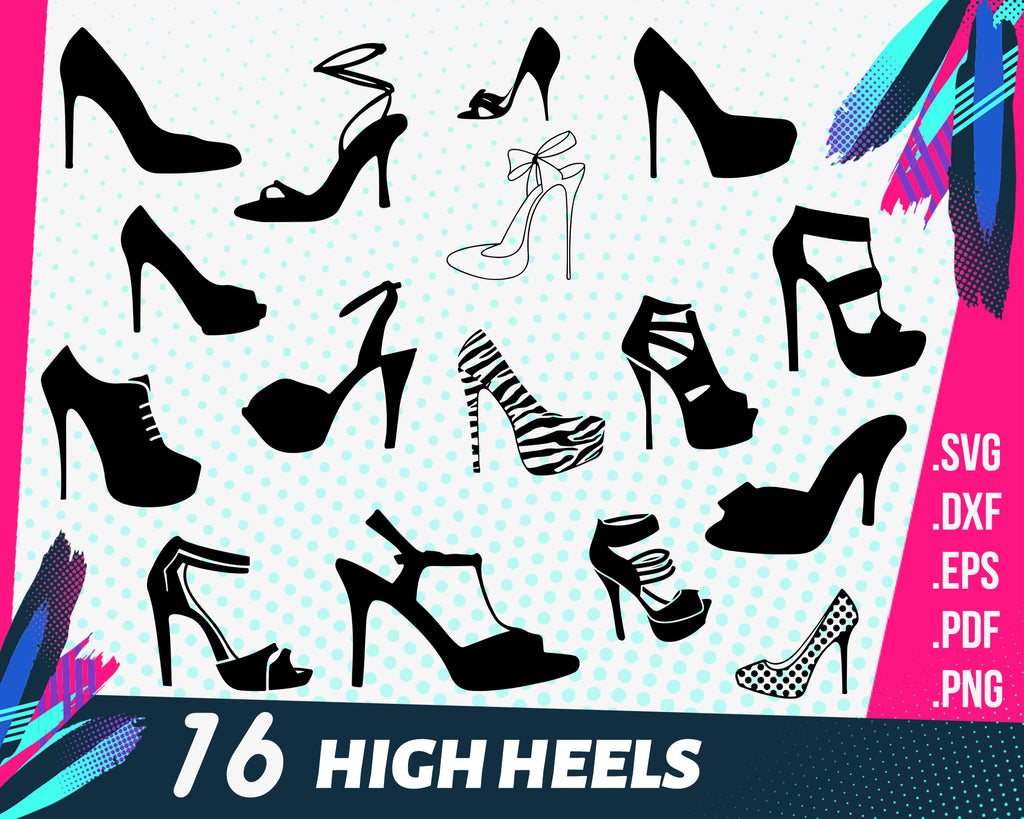 High heels svg, High Heel Shoe SVG, Woman High Heels Shoe SVG adn PNG instant download, high heeled shoe, svg file for cricut and silhouette