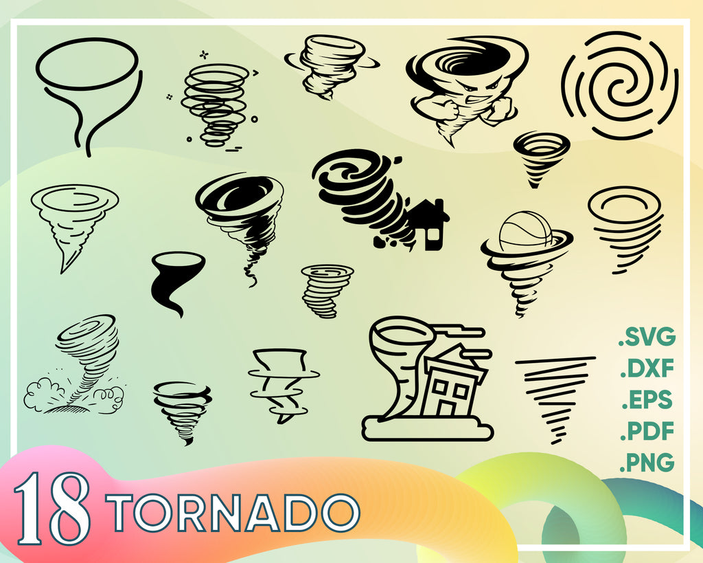 Tornado svg/tornado clipart/supercell svg/tornado silhouette/tornado cricut cut files/tornado clip art/digital download designs/svg