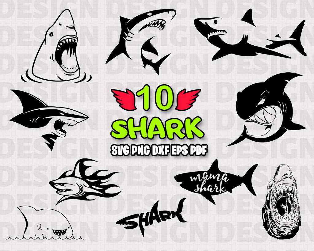 Shark SVG/ Animals/ Shark Silhouette/ Shark Vector/ Clipart/ Printable/ Cut Files/ Cricut// Digital File/ Instant Download