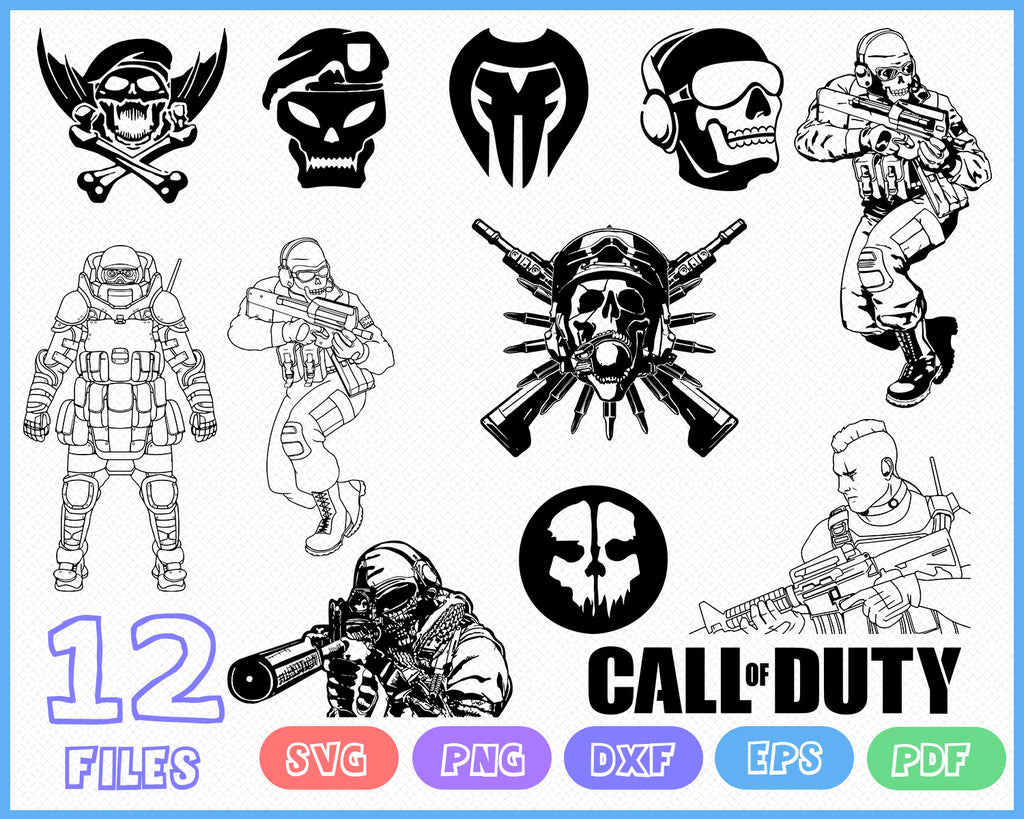 Call Of Duty Svg Modern Warfare Army Svg Games Pc Solider Gun S Clipartic