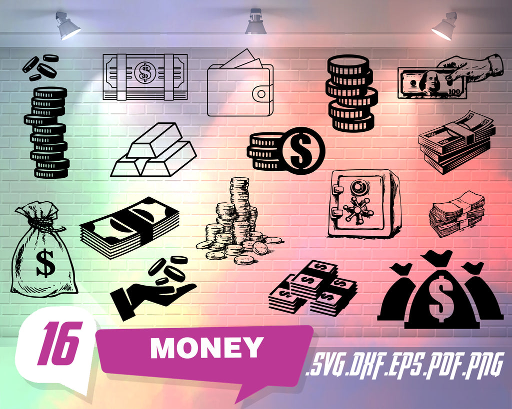 Money svg, Money svg / money icon svg / coin svg / dollar svg / dollar sign svg / bill svg / money sign svg / cash svg / currency svg / money bag svg