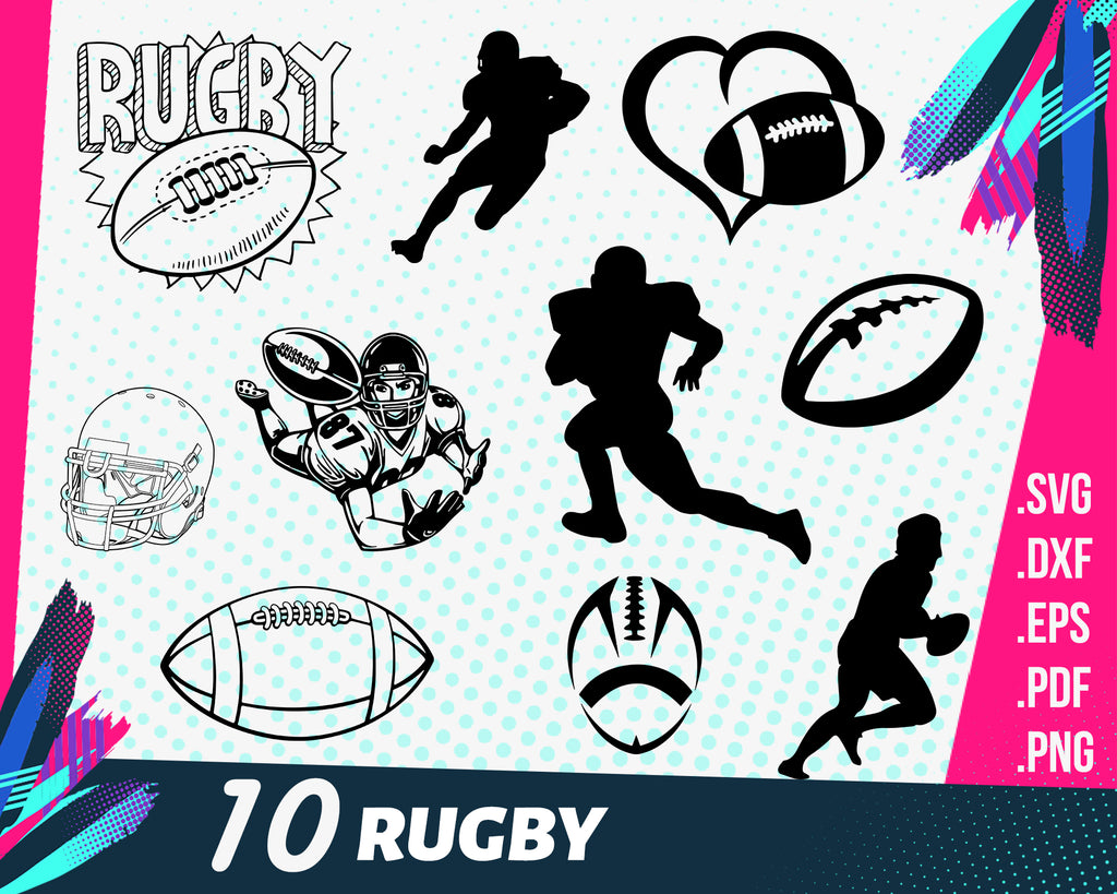 RUGBY SVG BUNDLE / Rugby cricut / Rugby silhouette / Rugby vector / Rugby cut file / Football svg / Football clipart / American Football
