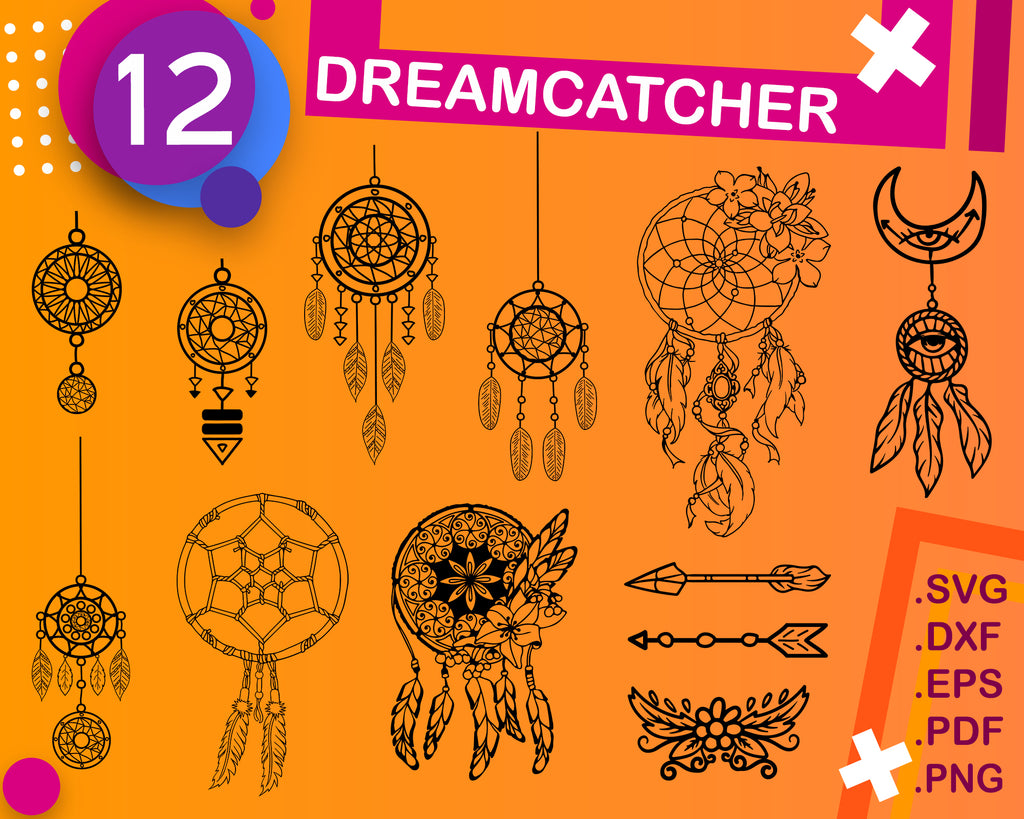 Dream Catcher Svg Feather Svg Indian Svg Clipart Feather Silhouett Clipartic