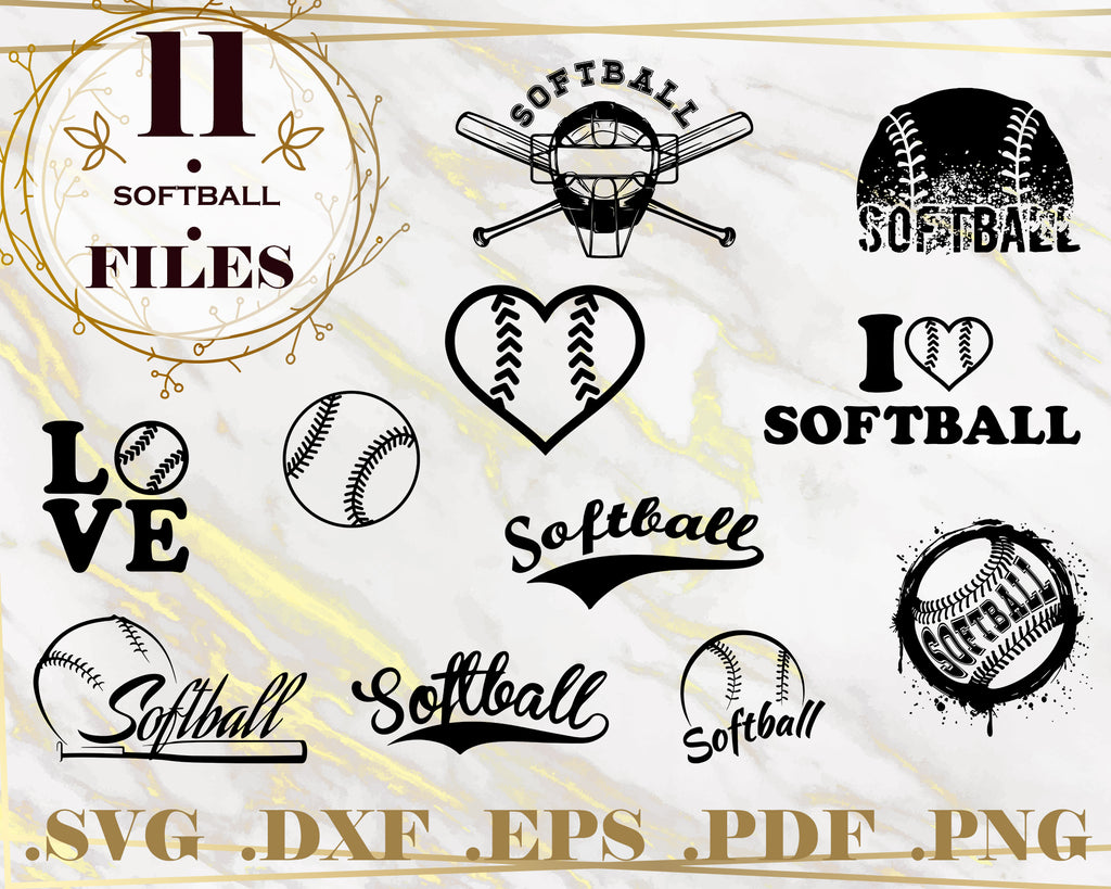 SOFTBALL SVG, softball bundle, softball clipart, softball mom svg, softball player svg, softball silhouette svg, png, dxf, eps, sport, instant download