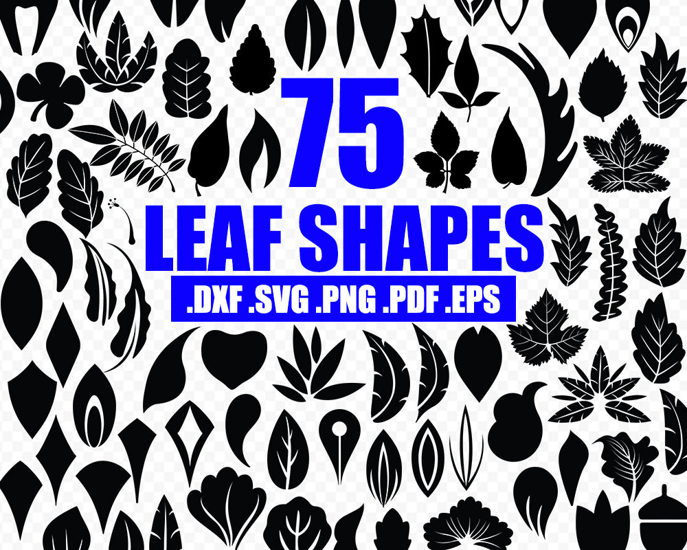 Leaves silhouette svg Cut Files, instant download, vector clip art, Cut Files for Cricut, DIY leaves, leaves silhouette, printable