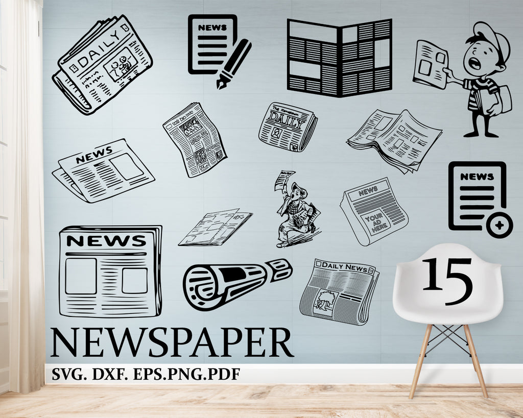 Newspaper svg, newspaper clipart, newspaper design, newspaper silhouette, newspaper cricut cut files, clip art, digital download designs, svg