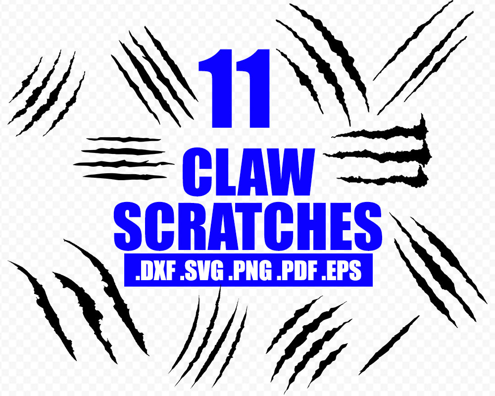 CLAW SCRATCHES SVG, Jurassic park svg, dinosaur svg, Cat svg, Scratch svg, claw svg Cricut Silhouette Cut Files svg, dxf, png, design