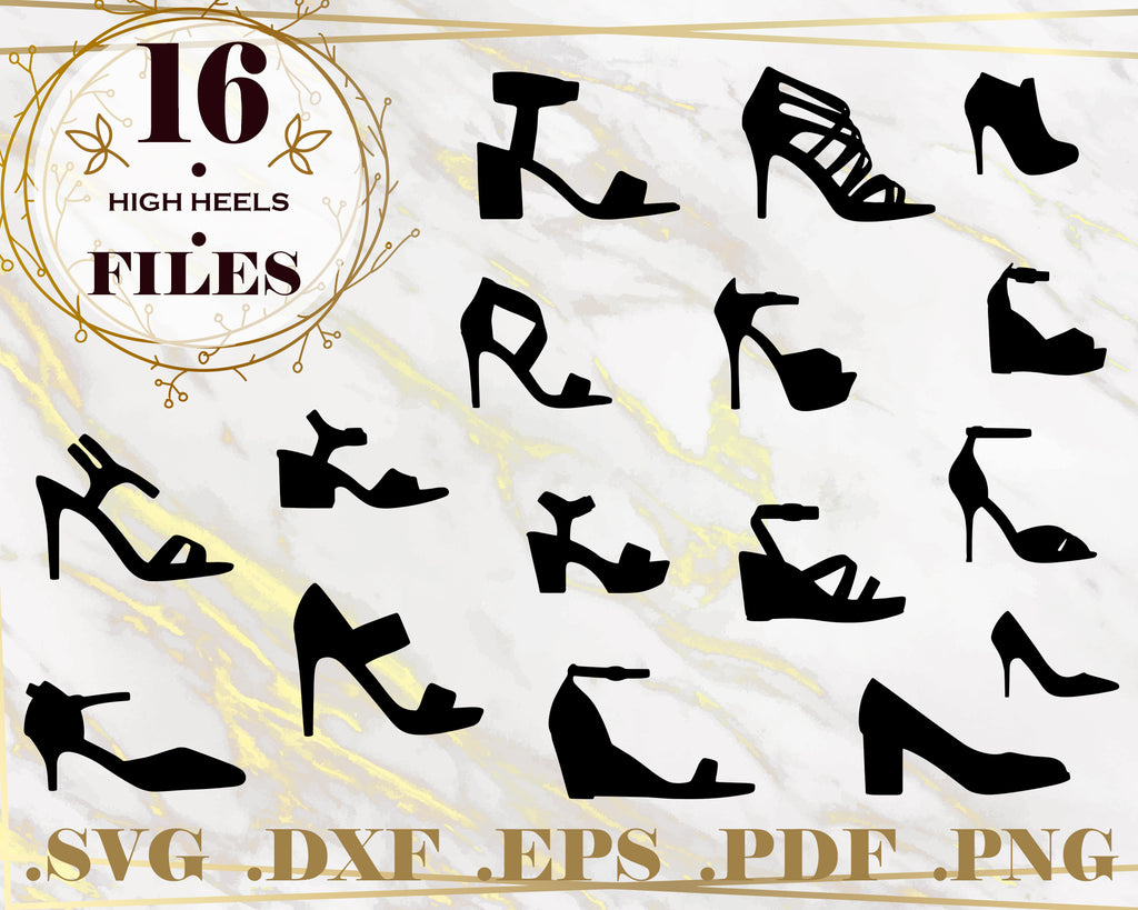 High Heels SVG, Cut File, Stiletto Clipart, SVG, DXF, Jpg, Png, Eps, High Heels, Beauty Glamour Svg, Womens Shoes, Digital Designs