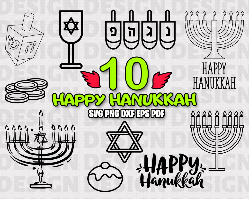 Happy Hanukkah SVG, jewish svg, hanukkah, hanukkah cut file, happy hanukkah, chanukah svg, happy hanukkah svg, hanukkah svg file, svg, silhouette svg