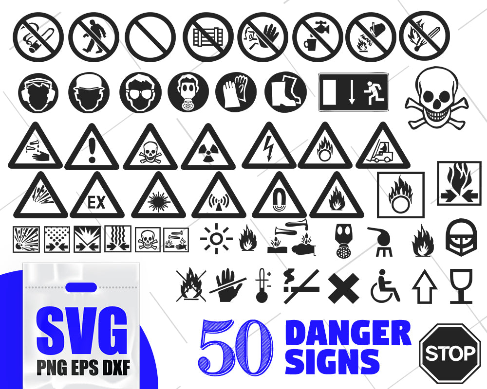Danger signs silhouette, danger table svg bundle, danger svg, sign svg, danger stickers svg, peril svg, menace svg, risk svg, insecurity svg, emergency svg
