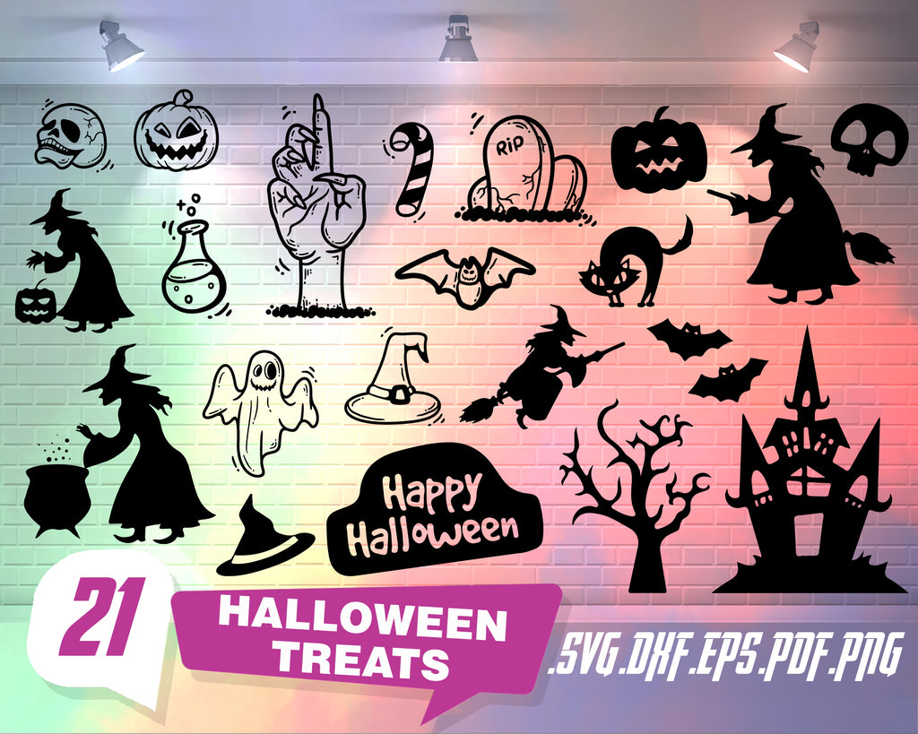 Halloween Treats svg,  HALLOWEEN TREATS SVG, halloween svg, trick or treat svg, fall svg, halloween cut file, halloween svg files, spooky svg, happy halloween svg