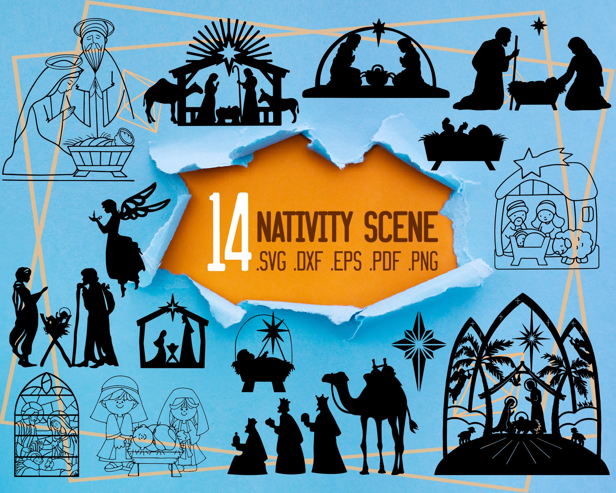 Nativity Scene Svg Nativity Svg Nativity Scene Svg Christmas Svg H Clipartic