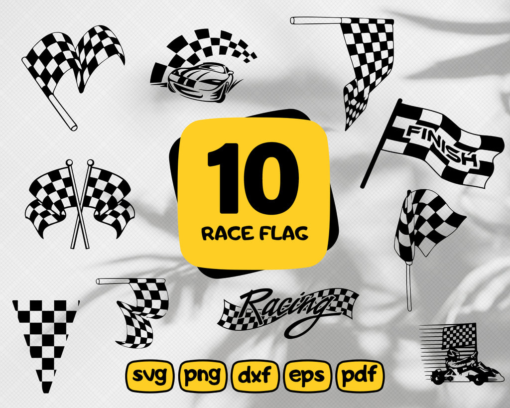 Race Flag Svg Bundle Cut Files Racing Flag Svg Race Flag Clipart Race Car Flag Svg Cut File Nascar Checkered Flag Files For Cricut Svg Dxf