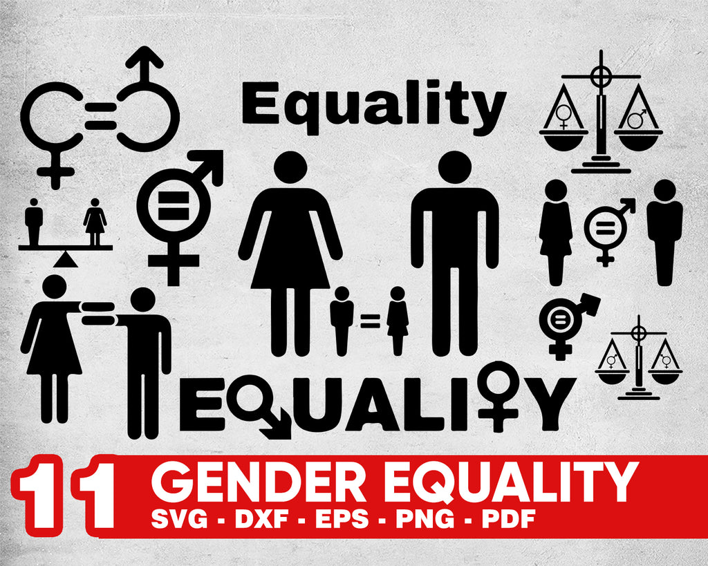GENDER EQUALITY SVG, equality shirt, equal right svg, female gender svg, gender equality, equality svg, gender symbol, gender svg, svg file