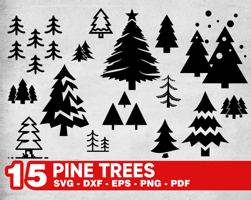 FOREST SVG, tree svg, woods svg, forest silhouette, forest clipart, forest vector, pine tree svg,forest svg bundle,pine trees svg,cricut svg