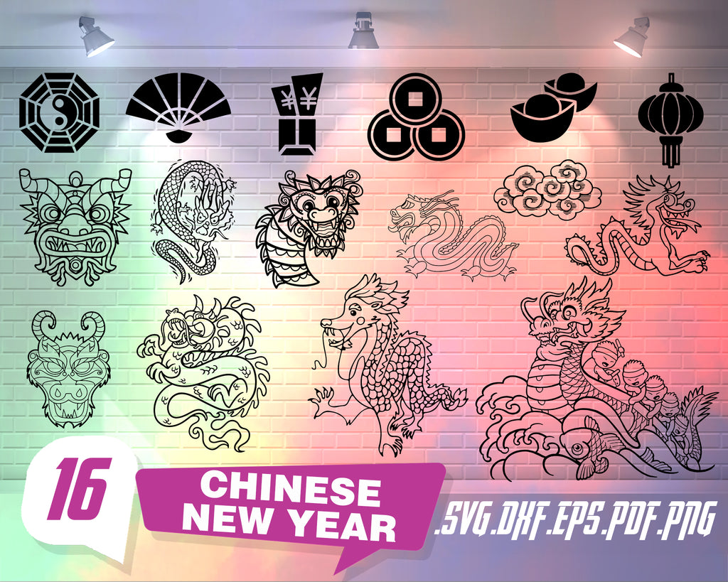 Chinese New Year svg, Chinese New Year Clipart - New Year Clip Art - Chinese Tradition - Free SVG on Request