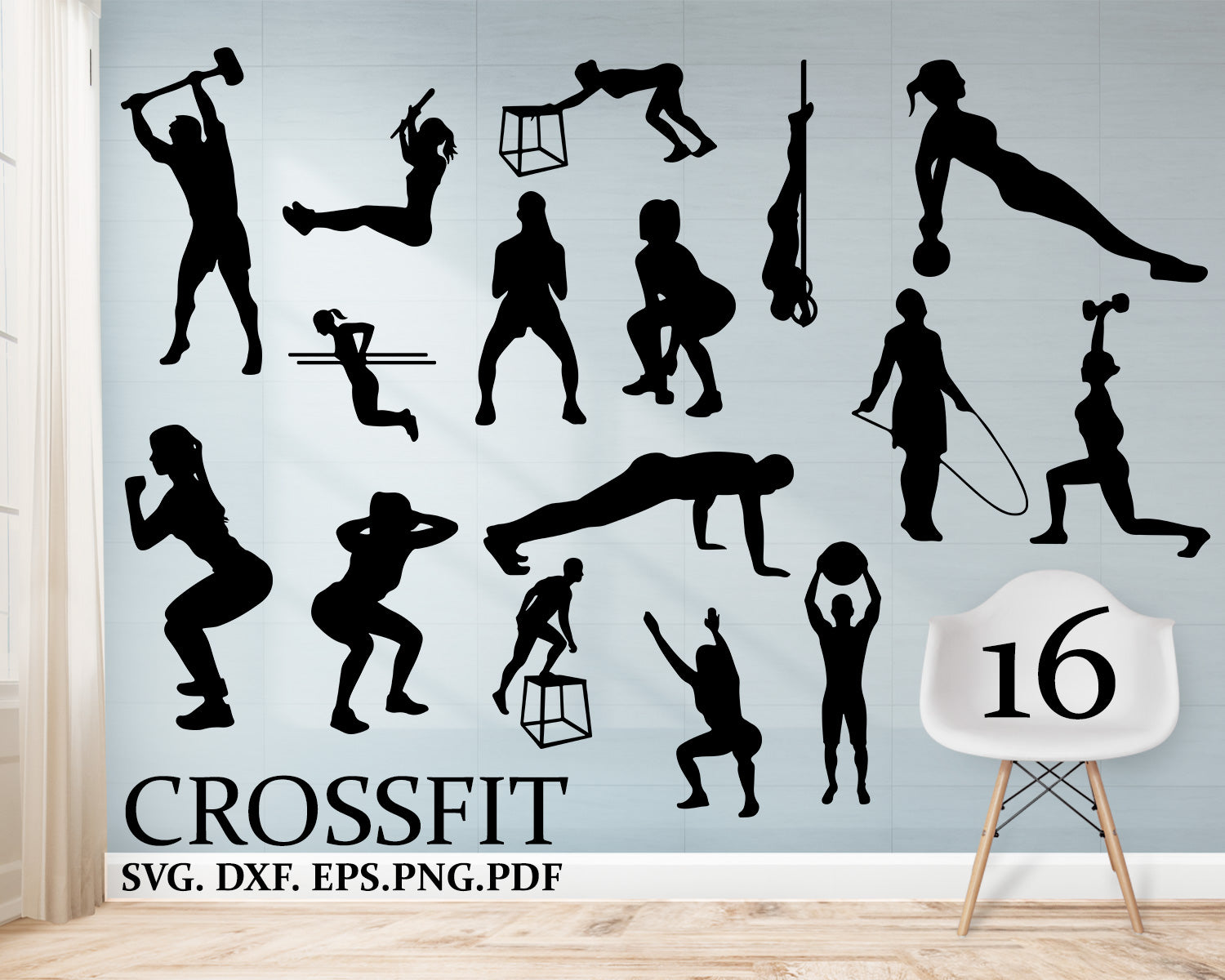 Crossfit Svg Files Crossfit Clipart Silhouette Weightlifting Svg Wo Clipartic
