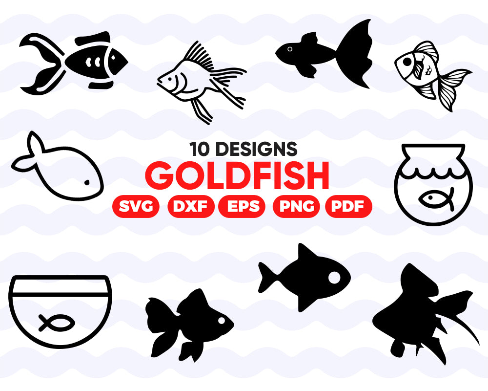 Goldfish SVG, Fish Svg, Goldfish Clipart, Goldfish Files for Cricut, Goldfish Cut Files For Silhouette, Dxf, Png, Eps, Instant download