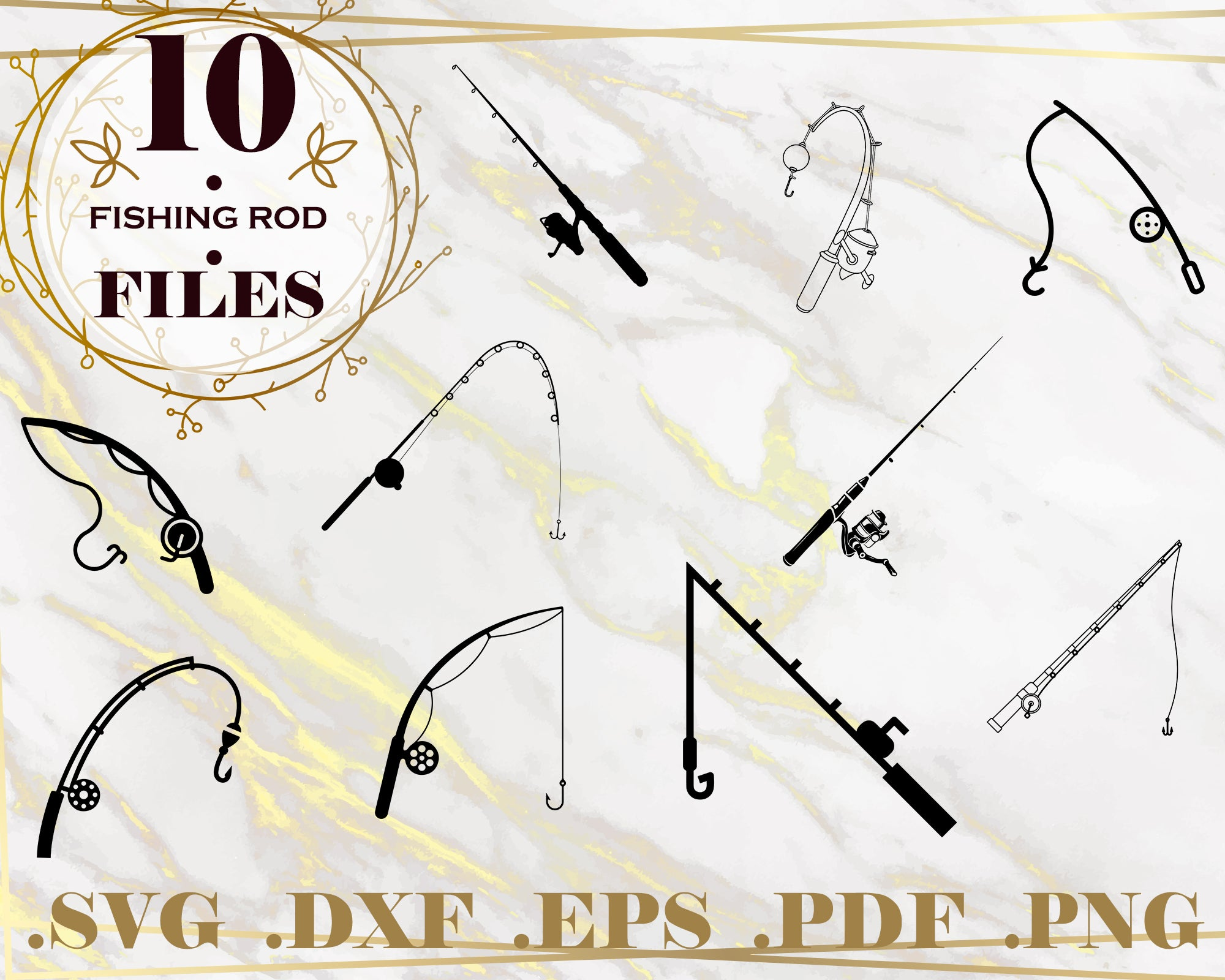 Download Scan N Cut Pole Cricut Files Cut File Silhouette Studio Vector Design Eps File Fishing Rods With Reel Svg Dxf Png Drawing Illustration Digital Lifepharmafze Com
