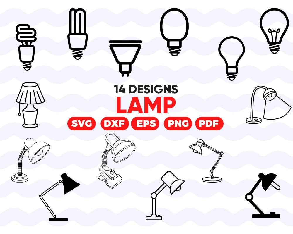 LAMP SVG, lamp, light svg, lamp silhouette, lamp clipart, lamp dxf, lightbulbs svg, lighting svg, bulb svg, bulb dxf, bulb silhouette, svg