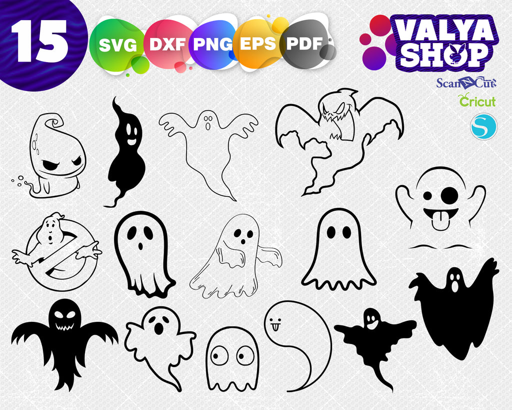 Ghost svg, Cute Ghost - Digital Cut Files - Digital Files - Ghost SVG - Ghost DXF - Ghost EPS - Ghost png - Vector Ghost - Ghost Clipart - Cute Ghost svg