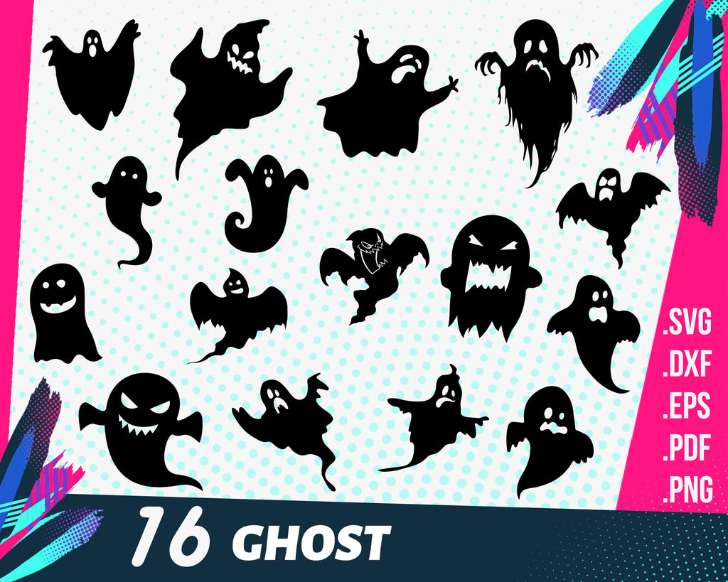 Ghost svg, Ghosts SVG - Halloween SVG - Ghosts Clipart - Ghosts Cut Files - Ghosts Silhouette - Ghost Cricut - Ghost SVG bundle - Ghost dxf