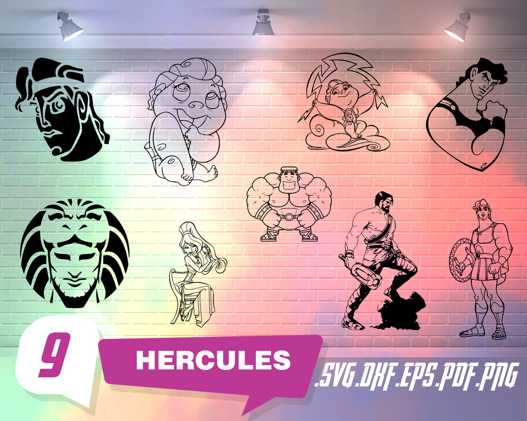 Hercules svg, Hercules Svg, Hercules Cut files: Dxf, Eps & Png clipart, Hercules characters for Cricut, Silhouette cameo, Meg Svg, Hercules movie cutfile