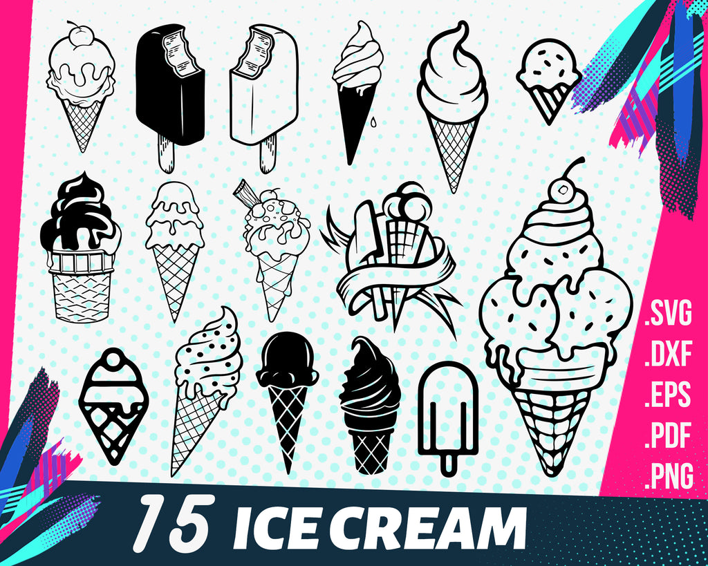 Ice cream svg, Ice Cream SVG Cut File Pack Summer Popsicle Cut Files Cute Ice Cream Cutting File Ice Cream Vector Pack Ice Cream Clip Art Ice Pops Download