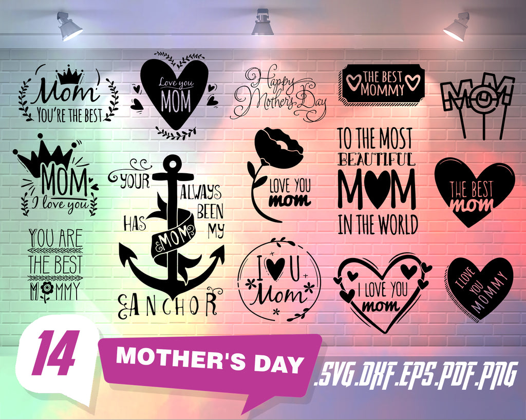Free Included are 6 svg, 6 dxf, and 6 eps files that are ready for your cutting machine. Mother S Day Svg Mother S Day Bundle Svg Mom Svg File Mom Svg Bundl Clipartic SVG, PNG, EPS, DXF File