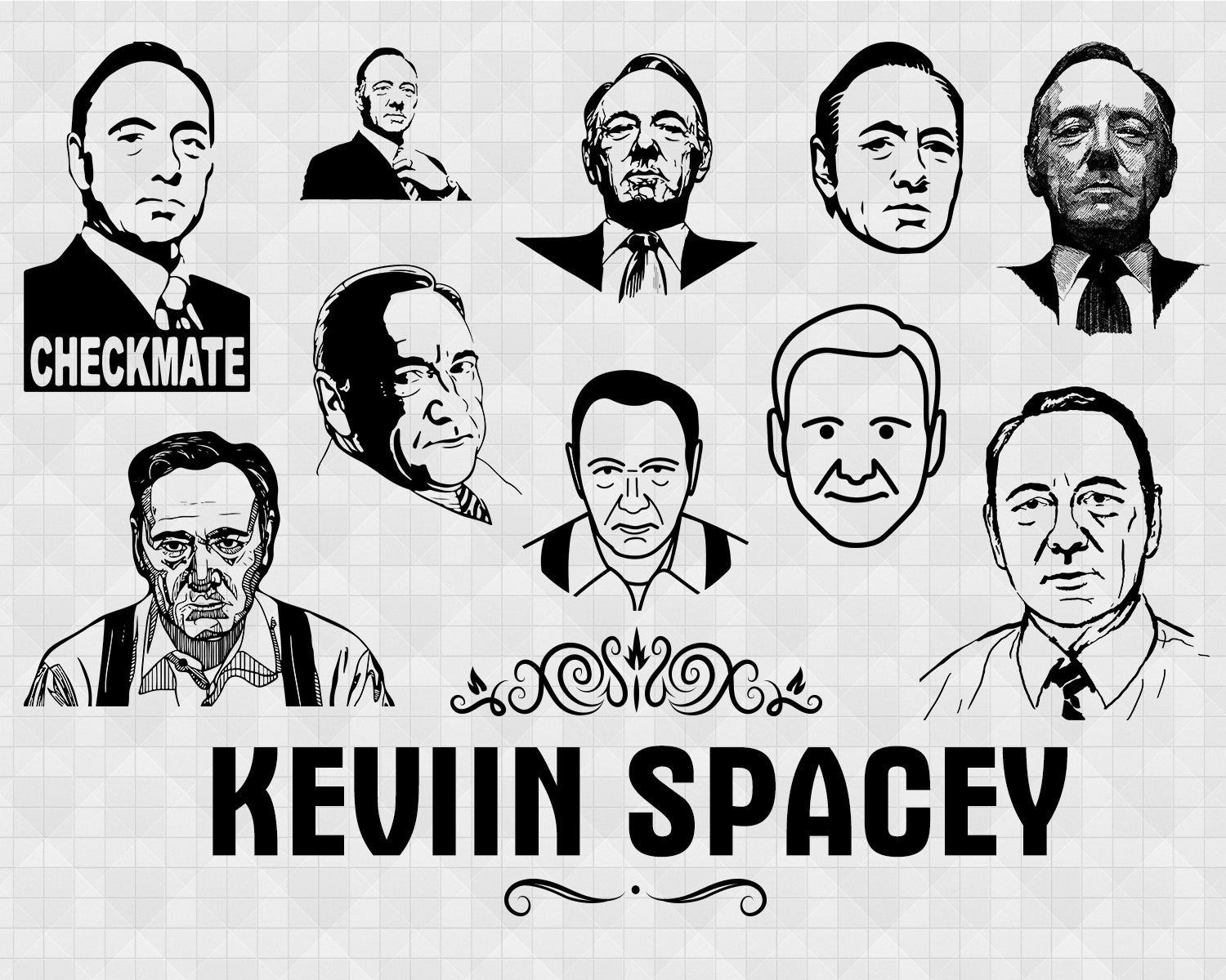 Kevin Spacey svg, famous people, celebrity, celebrity silhouette, arti – Clipartic