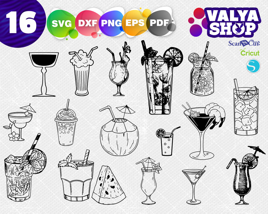 Martini Glass Drink - Martini Glass Clipart Black And White - Free  Transparent PNG Clipart Images Download