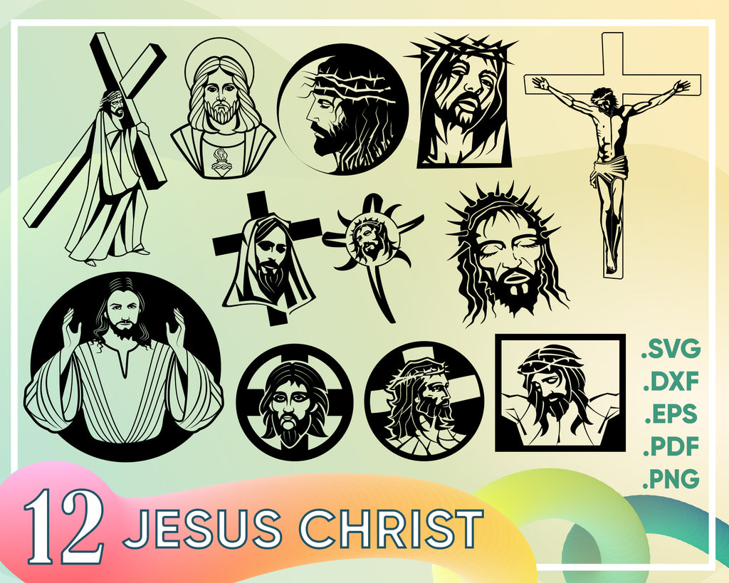 Jesus SVG, Jesus Cut File, Jesus, Jesus Christ SVG, Jesus Christ, Jesus Face SVG, Jesus Face, Clip Art, Cut File, Svg File, Svg For, svg eps