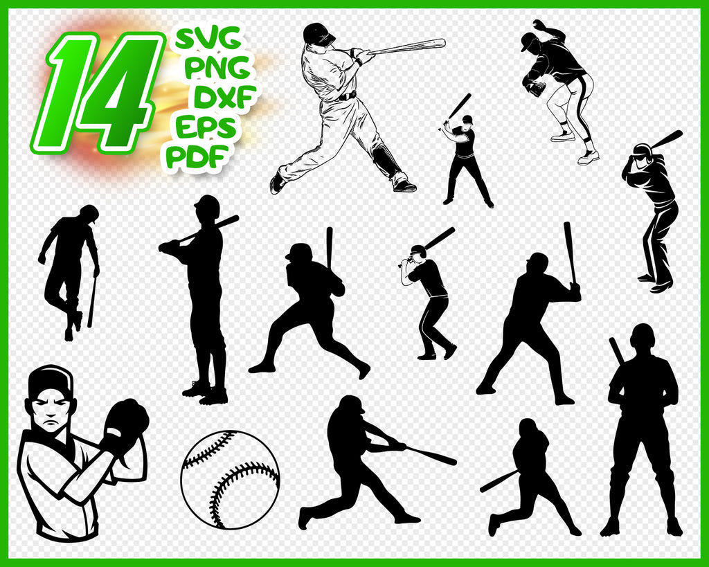 Pitcher SVG File, Softball Hitting SVG Vector art Commercial & Personal Use svg file for Cricut, svg file for Silhouette, Vinyl