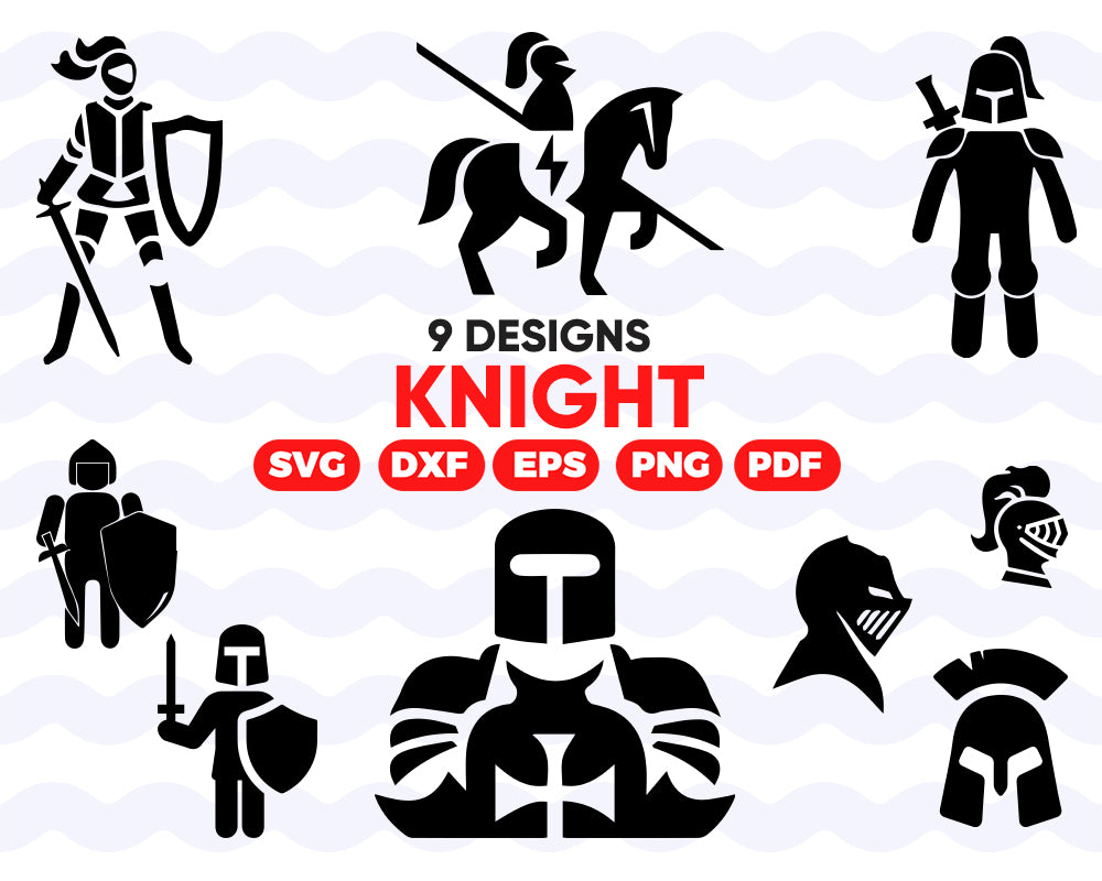 KNIGHT SVG, Warrior Svg, Knight Clipart, Knight Files for Cricut, Knight Cut Files For Silhouette, Knight Dxf, Knight Png Eps