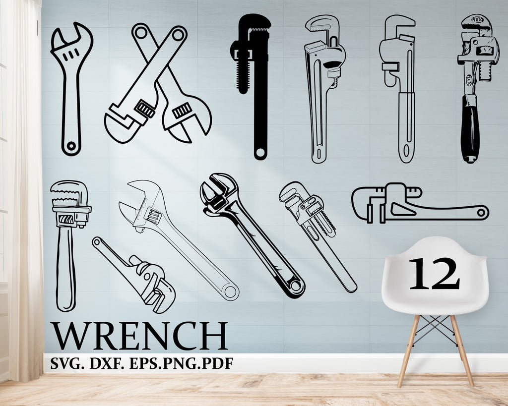 Wrench svg, tools svg, wrench, tool svg, saw svg, wrench clipart, wrench vector, mechanic svg, svg files for cricut