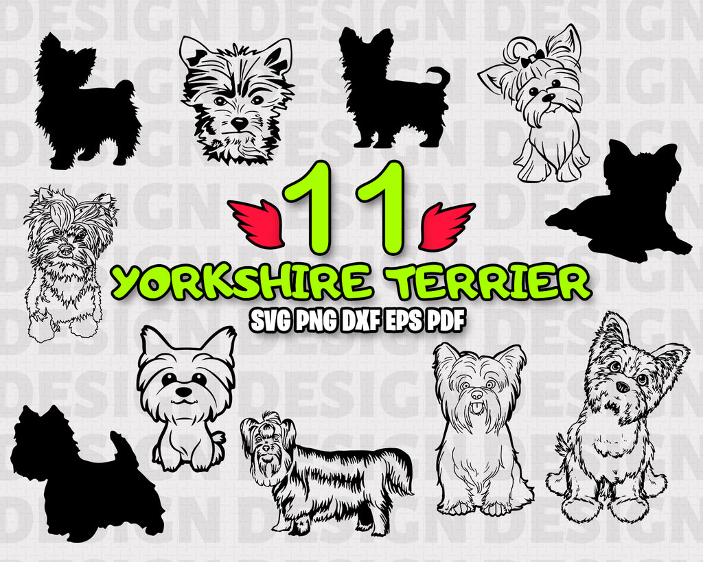 Yorkshire terrier SVG, yorkie svg, dog svg, yorkshire svg, svg cut file, pet svg, animal, cute dog, vinyl design, digital download