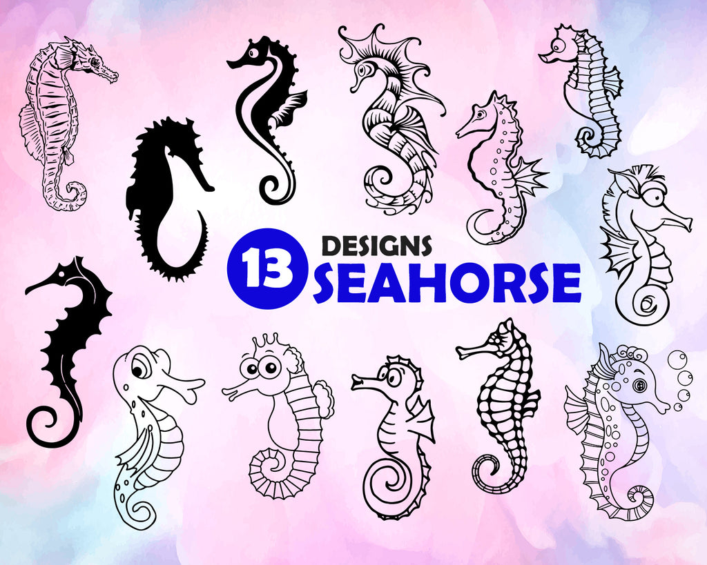 Seahorse Svg Seahorse Svg Sea Animal Svg Seahorse Silhouette Seaho Clipartic