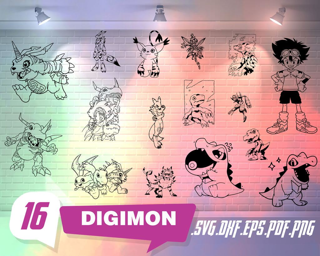 DIGIMON SVG, digimon, digimon cosplay, digimon clipart, anime svg, digimon adventure, digimon digivice, silhouette svg, svg cut files, svg