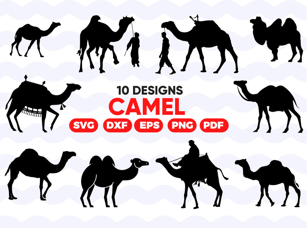 Camel SVG Bundle, Camel SVG, Camel Clipart, Camel Cut Files For Silhouette, Files for Cricut, Camel Vector, Svg, Dxf, Camel Png, Eps, Design