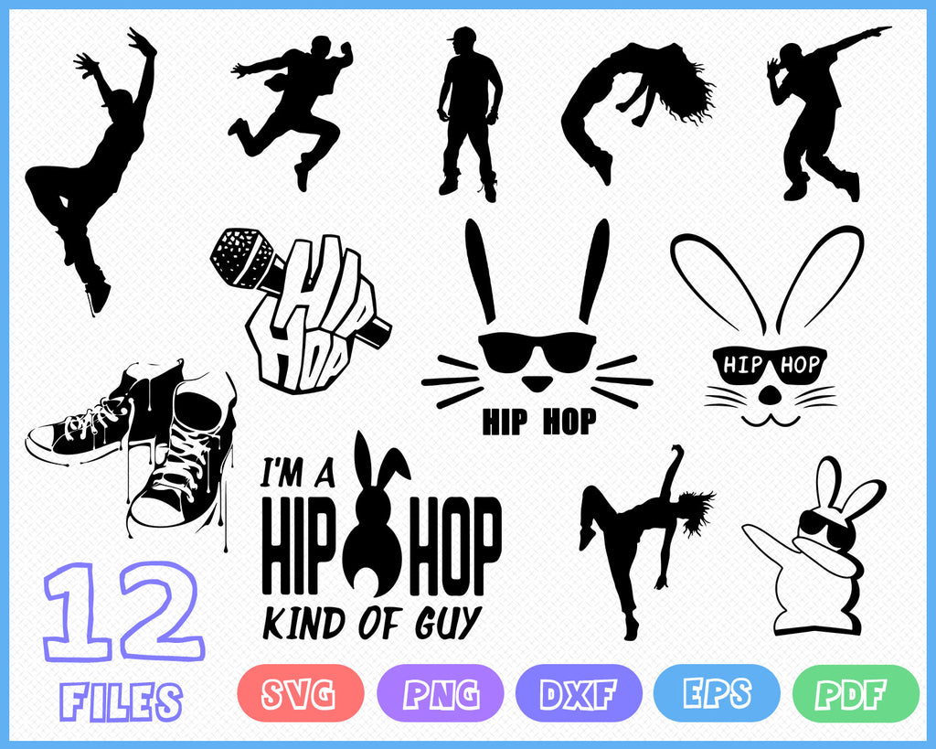 Hip Hop Svg Dancer Pack Silhouette Svg Bundle Hip Hop Silhouette A Clipartic