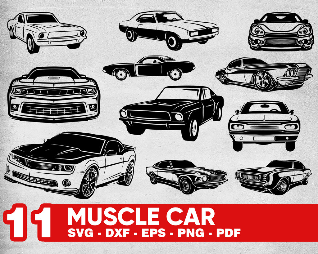 MUSCLE CAR SVG, muscle car, svg, car svg, vehicle svg, muscle, classic car svg, car clipart,car vector,sport car,car silhouette,classic car