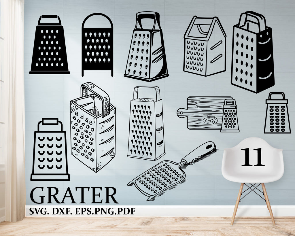 Grater svg, kitchen svg, cooking svg, cheese grater svg, grater silhouette, country cooking svg, grater dxf file, grater designs, png file
