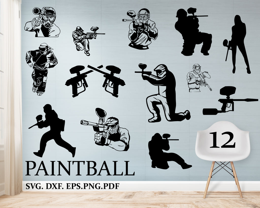 Paintball svg bundle, Commercial & Personal Use, Vector svg file for Cricut, svg file for Silhouette, vinyl cutting, Cut Files for Crafters