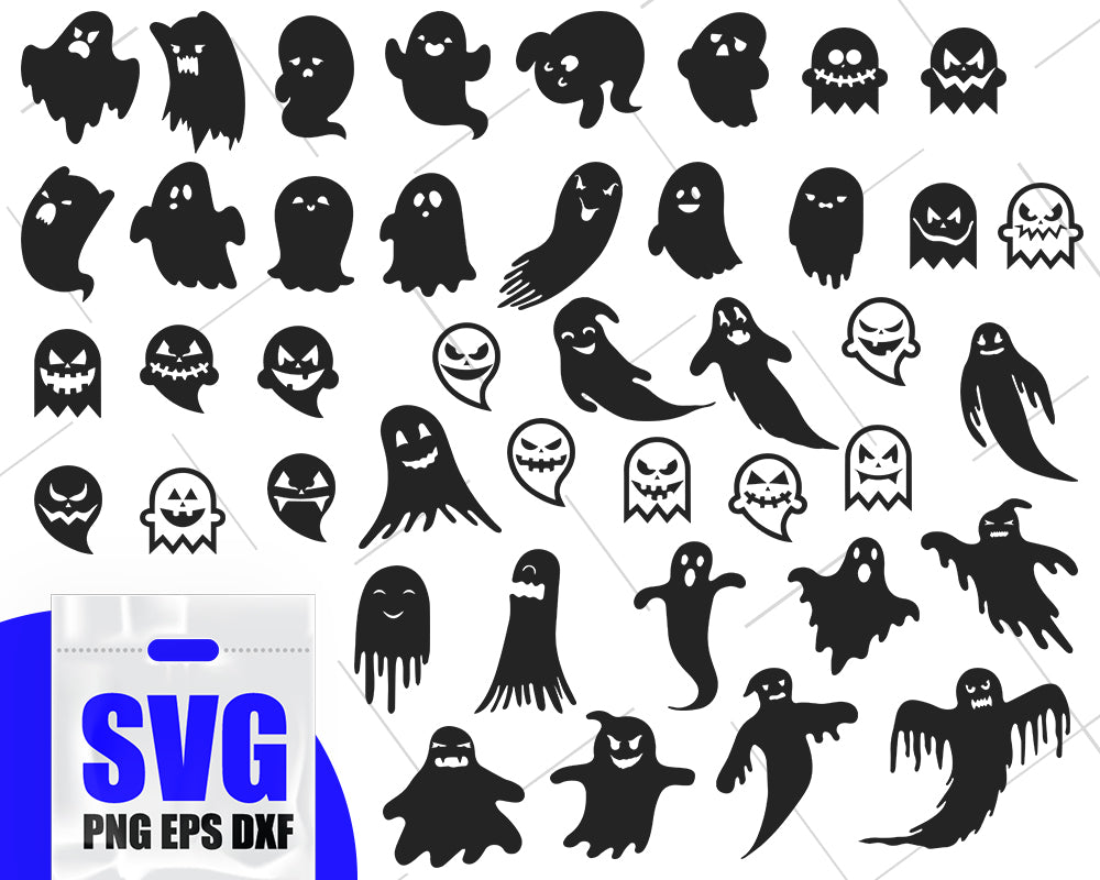 Ghost silgouette, ghost outline svg, ghost vector, cute ghost svg, spooky svg