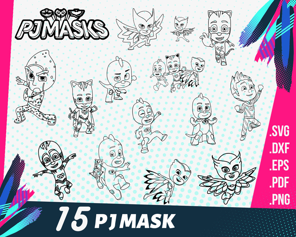 PJMASK SVG, pj masks, pj mask cutting file, pj mask svg, pjmask, pjmasks svg, owelette mask, cricut svg, pj mask gekko,pjmask characters,svg