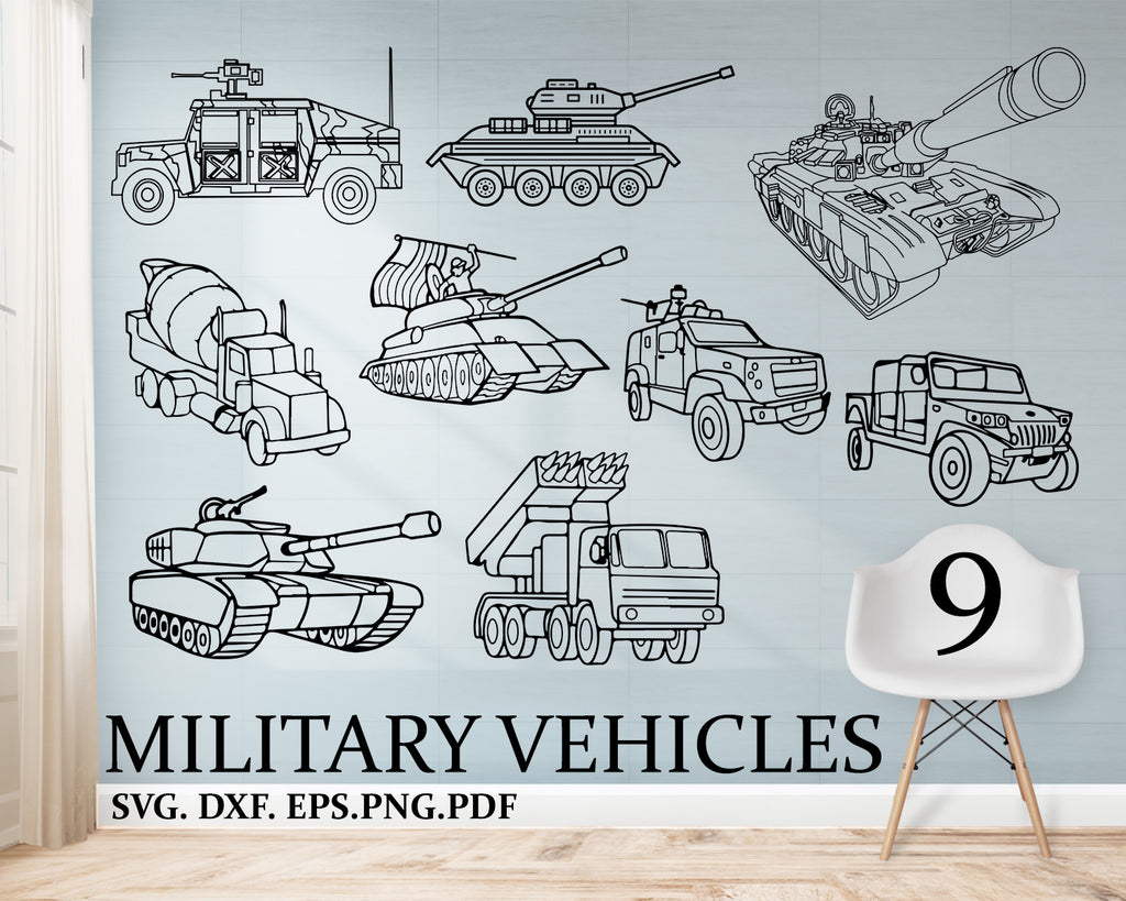 Military Vehicles svg, Silhouette SVG, Soldier SVG, Army SVG, Hero Clipart, Gun Clipart, Dog Tags, Military Vehicle, Veteran's Day, Instant Download