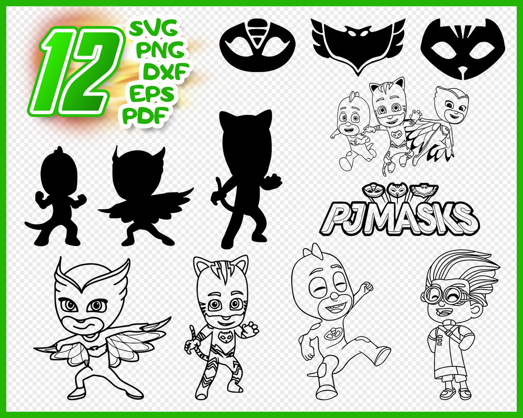 Pj Masks svg, Catboy Svg, Pj masks clipart, Connor Catboy Cutfiles, eps, dxf, png bundle for Cutting projects, scrapbook, cricut
