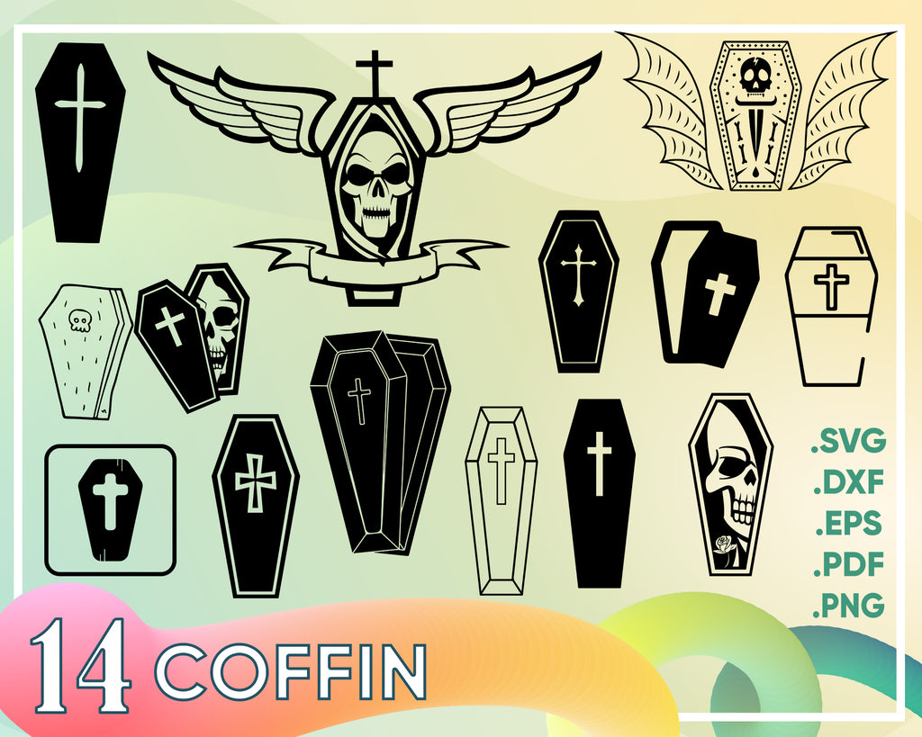 Coffin svg/coffin clipart/coffin svg/coffin silhouette/coffin cricut cut files/coffin clip art/coffin digital download designs/svg