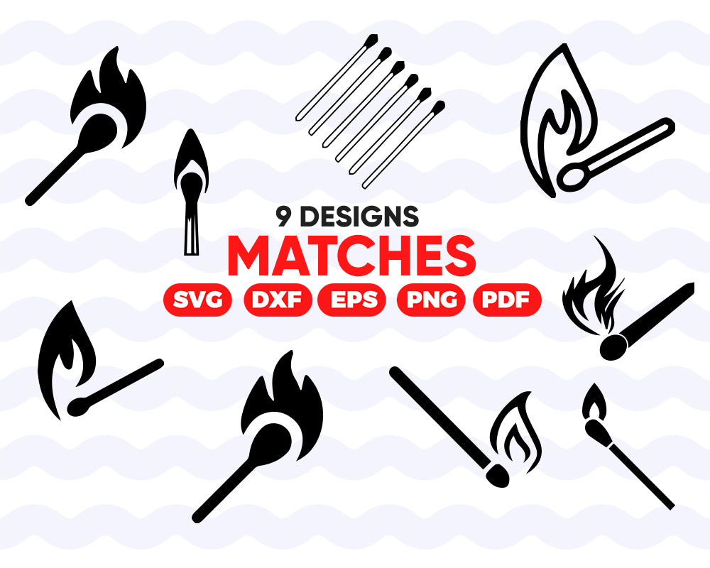 Matches SVG Bundle, Matches SVG, Matches Clipart, Matches Cut Files For Silhouette, Files for Cricut, Matches Vector, Dxf, Png, Eps, Vinyl Design
