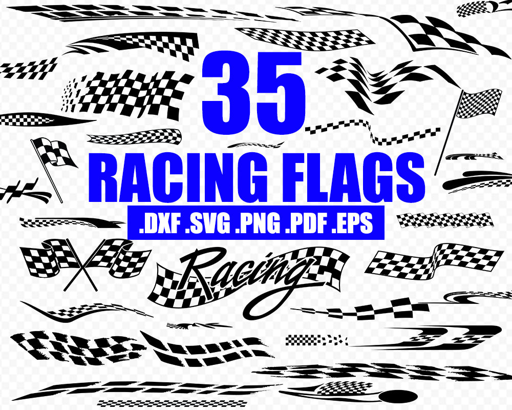 Racing flag svg, racing svg, checkered flag svg, racing svg, rally car svg, sports racing clipart, silhouette, cut file, svg cut file, decal